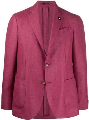 Lardini single-breasted linen blazer