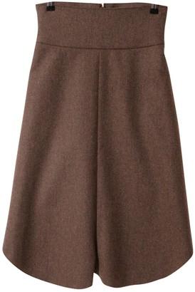 Saint Laurent Brown Wool Skirt for Women