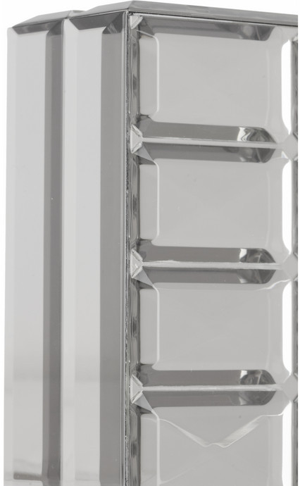Fendi Mirrored-resin box clutch