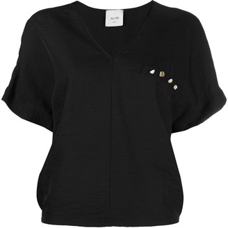 Alysi chest-patch T-shirt