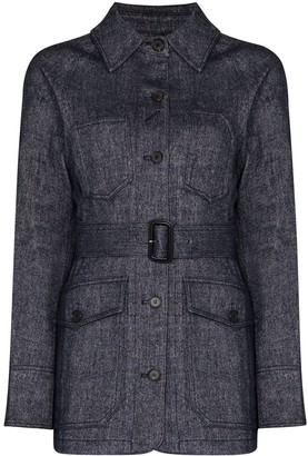 LVIR Signature Stitch belted jacket