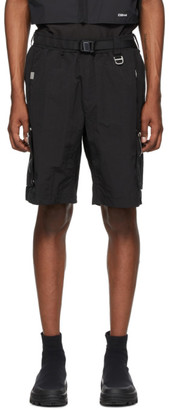 C2H4 Black Side Pockets Track Shorts