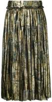 Maison Margiela accordion pleat metallic skirt