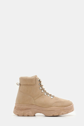 Ardene Faux Leather Hiker Boots - Shoes |