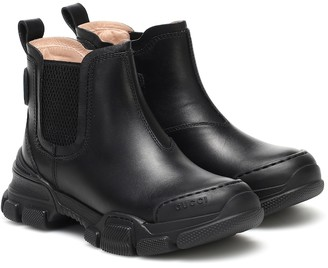 Gucci Kids Leather ankle boots