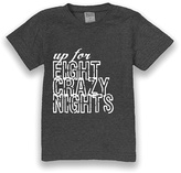Urban Smalls Charcoal 'Up for Eight Crazy Nights' Tee - Toddler & Boys