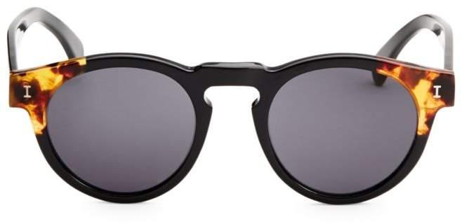 Illesteva Leonard Split Back 48mm Round Sunglasses