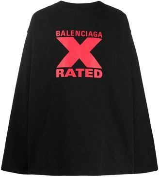 Balenciaga X-Rated large fit T-shirt