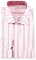 English Laundry Striped Cotton Dress Shirt, Pink/White