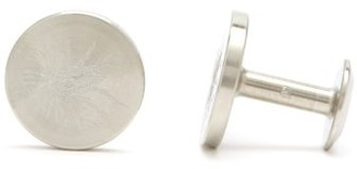 Alice Made This - X Jessica Bird Dot Engraved Steel Cufflinks - Mens - Silver