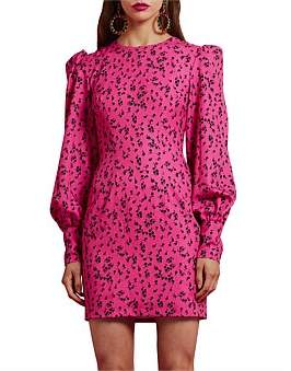 By Johnny Floral Fruits Cuffed Mini Dress
