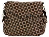 Kalencom Ozz Messenger Bag in Brown Geometric Pattern