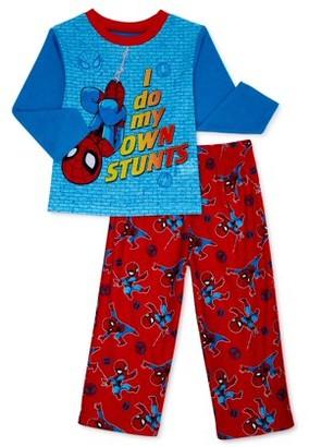 Spiderman Toddler Boys Long Sleeve Microfleece Pajamas, 2pc Set