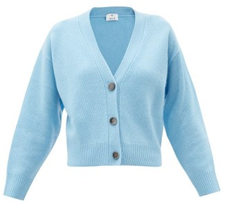 Allude Dropped-sleeve Cashmere Cardigan - Blue