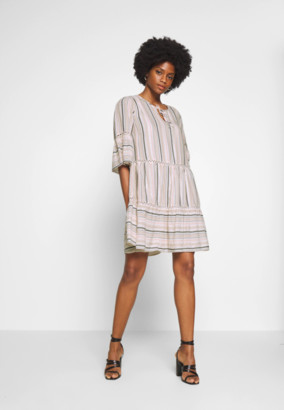 Culture CUebru Dress - Day Dress - Feather Grey - S . | cotton | feather gray striped mix