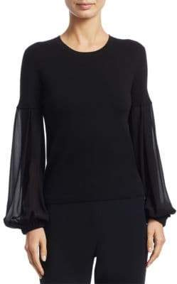 Akris Knit Flare-Sleeve Pullover