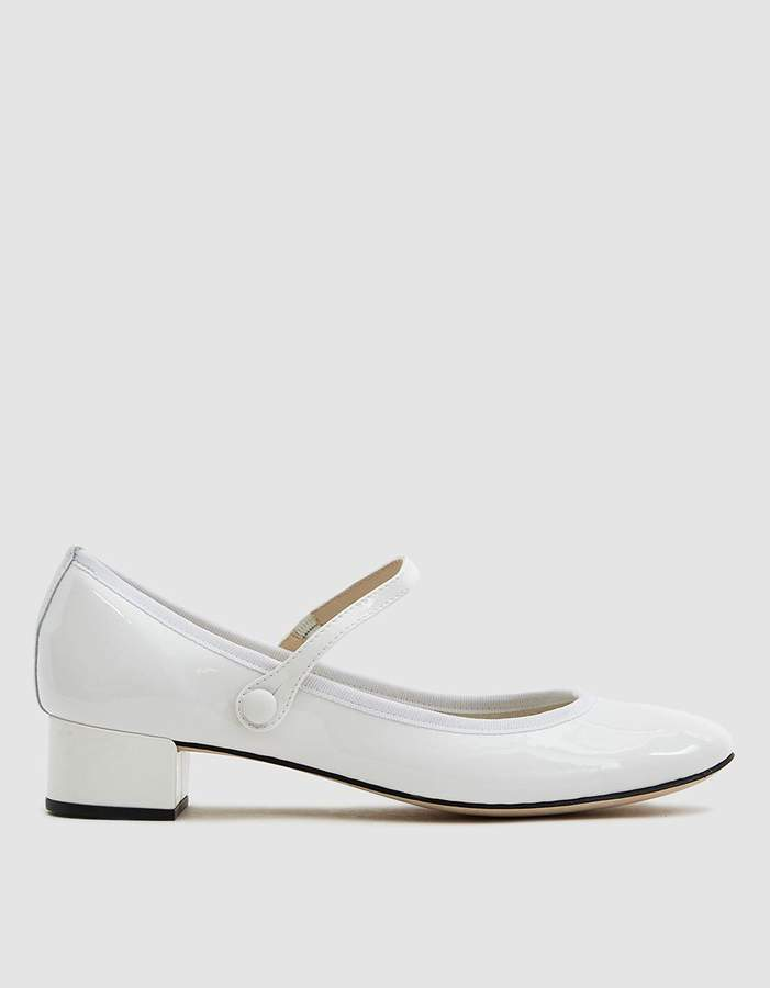 Repetto Rose Mary Jane in White Patent