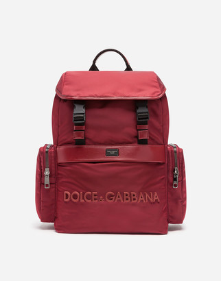 Dolce & Gabbana Dna Sicilia Backpack With Rubberized Logo