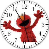 "Ikea New Sesame Street Elmo Wall Clock 10"" Will Be Nice Gift and Room Wall Decor X31"