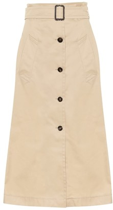 S Max Mara Lisotte cotton midi skirt