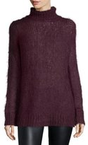 Michael Kors Mohair-Blend Turtleneck Sweater, Bordeaux