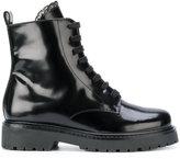 Twin-Set lace detail combat boots