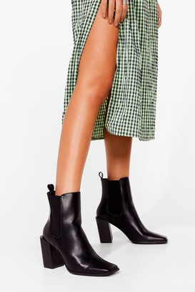 Nasty Gal Womens Square They At Patent Block Heels - Black - 3