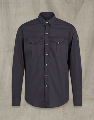 Belstaff CADET SHIRT WITH PATCH navy XXL