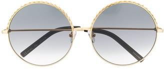 Matthew Williamson Geometric Embellished Round Sunglasses