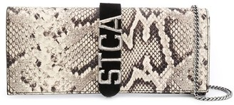 Just Cavalli Logo Snakeskin Clutch Bag