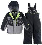 ZeroXposur Toddler Boy Heavyweight Abstract Jacket & Bib Overall Snow Pants Set