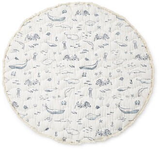 Pehr Life Aquatic Reversible Print Round Play Mat
