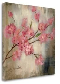 "Tangletown Fine Art Cherry Blossom I by Silvia Vassileva Giclee Print on Gallery Wrap Canvas, 30"" x 30"""
