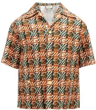 Gucci G-check Cotton-canvas Shirt - Orange Multi