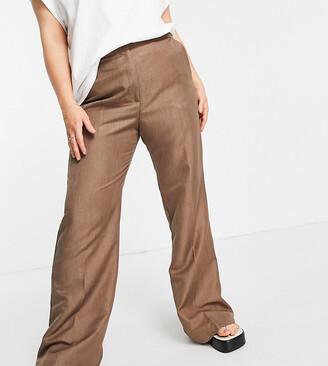 ASOS DESIGN Curve 70s dream wide leg pants