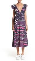 Marc Jacobs Women's Glories Crepe Back Satin Midi Wrap Dress