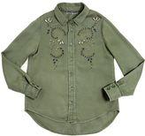 Ermanno Scervino Embellished Light Cotton Gabardine Shirt