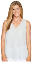 Vince Camuto Sleeveless Zen Pebbles V-Neck Drape Front Blouse Women's Blouse