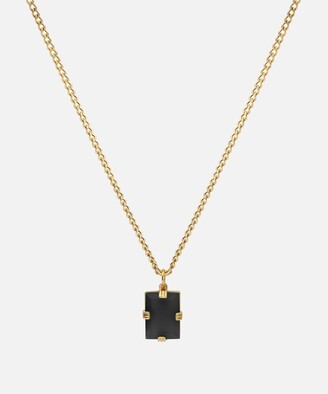 Miansai Lennox Necklace in Gold Vermiel and Onyx