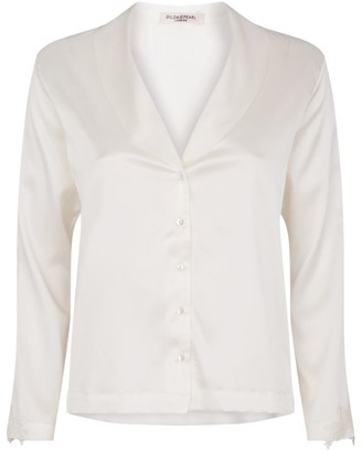 Gilda & Pearl Silk Lace Pyjama Top