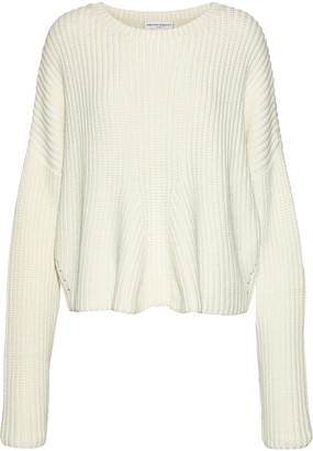 Amanda Wakeley Kinishba Oversized Zip-detailed Ribbed-knit Sweater