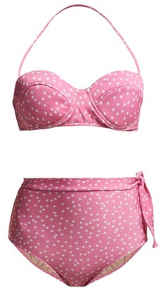 Adriana Degreas Mille Puncti High-rise Bikini - Womens - Pink White