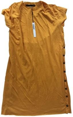 Les Prairies de Paris Yellow Cotton Dress for Women