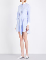 Mo&Co. Belted cotton shirt dress