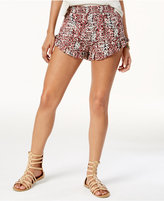 Volcom Juniors' On The Edge Printed Ruffled Soft Shorts