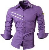 Jeansian Men's Slim Fit Long Sleeves Casual Shirts 0777 S