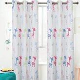 """Sherwood GIRAFFE Eyelet Curtain Blackout Grommet Coated Window Panel Drapes for Kids Girl Boy Bedroom, 1 Panel, 70"""" x 63"""" (Light GIRAFFE)"""