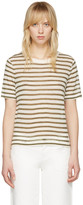 Alexander Wang Ivory and Green Cropped T-shirt