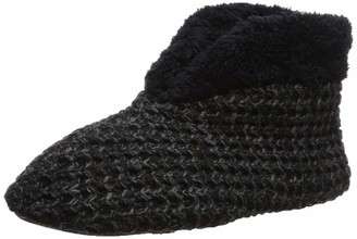 Dearfoams Women's Textured Knit Bootie Slipper