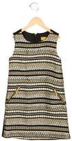 Nicole Miller Girls' Tweed Sleeveless Dress